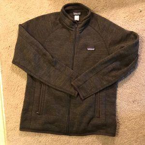 Patagonia medium gray fleece jacket